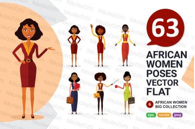 6 African varios women Character vector