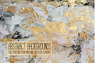 Abstract backgrounds with gold