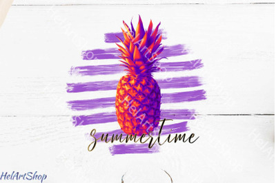 Summertime Sublimation png, Pineapple png, Summer png
