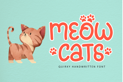 Meowcats - A Quirky Font Special For Cats Lover