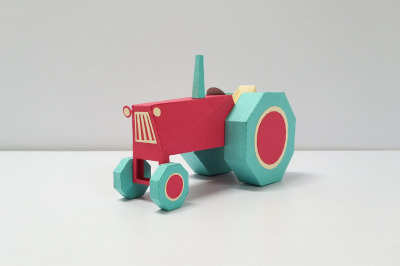 DIY Farm Tractor - 3d papercraft