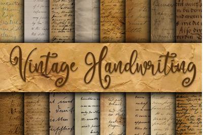 Vintage Handwriting Digital Paper Textures