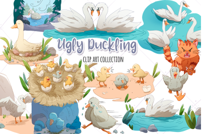Ugly Duckling Clip Art Collection