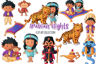 Arabian Nights Clip Art Collection