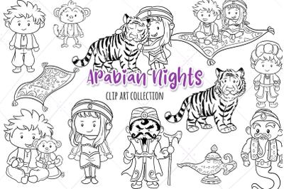 Arabian Nights Digital Stamps