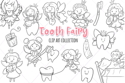 Tooth Fairy Digital Stamps