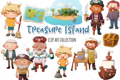 Treasure Island Clip Art Collection