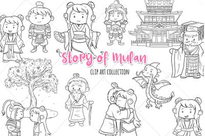 Story of Mulan Digital Stamps