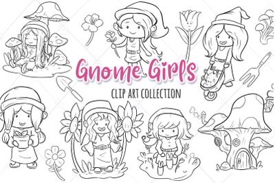 Gnome Girls Digital Stamps