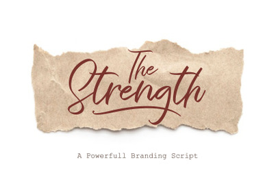 The Strength - A Branding Script