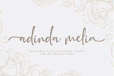 Adinda Melia / Modern Calligraphy Font