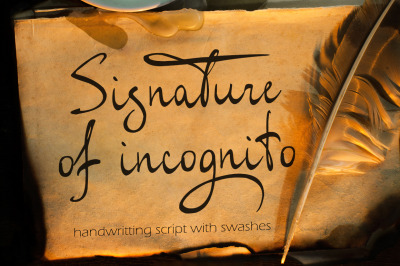 Signature of Incognito - elegant font with swashes