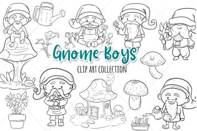 Gnome Boys Digital Stamps