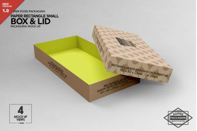 Small Rectangular Box & Lid Mockup