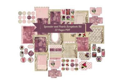 Lavender Pearls Journal Scrapbook Kit