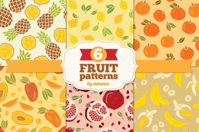 Fruits Seamless Patterns