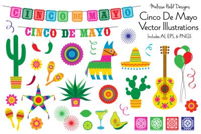 Cinco De Mayo Vector Illustrations