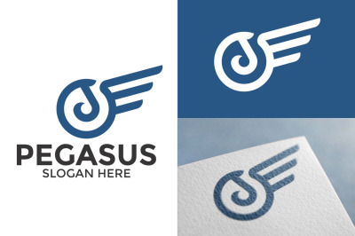 Pegasus Circle - Minimalist and Professional Logo