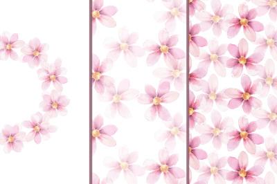 Delicate floral set 1. Watercolor