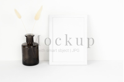 Download Square Clear Glass Bottle Cognac Mockup Yellowimages
