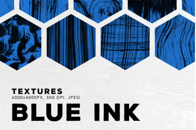 Blue Abstract Ink Textures