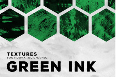 Green Abstract Ink Textures