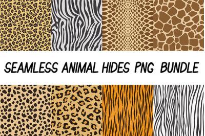 Seamless Animal Hides PNG Bundle, Animal Hides Texture