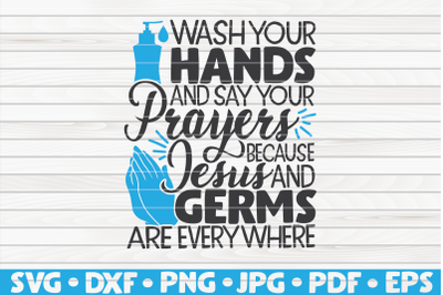 Wash your hands and say your prayers SVG | Bathroom Humor