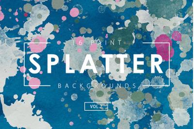 Paint Splatter Backgrounds Vol. 2