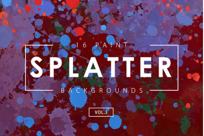 Paint Splatter Backgrounds Vol. 3
