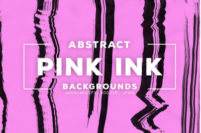 Pink Abstract Ink Textures
