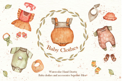 Watercolor Baby Clothes Collection