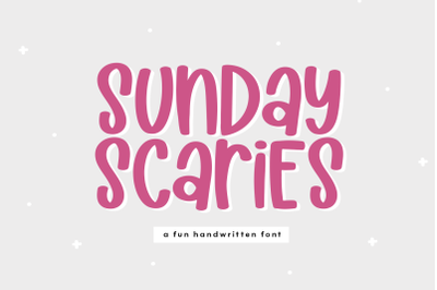 Sunday Scaries - Fun Handwritten Font
