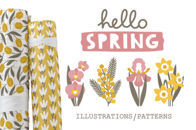 SPRING  illustrations & patterns