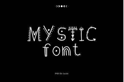 Mystic font. handwritten