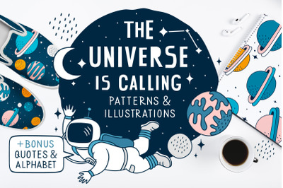 Space illustrations & patterns