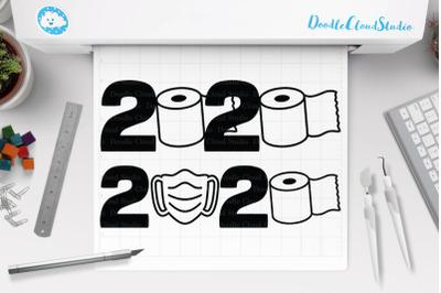 2020 Quarantined Toilet Paper Svg, 2020 Quarantine Mask, 2020 SVG