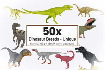 50x Dinosaur Breeds - Unique High Quality Design collection