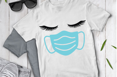 Quarantine SVG, Face Mask SVG, Woman Face SVG, Nurse SVG