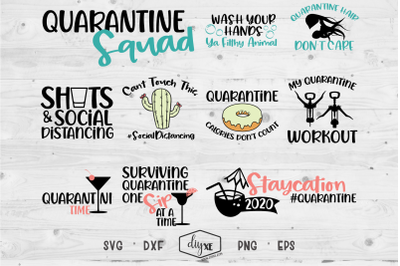 Quarantine Squad - A Collection Of Quarantine SVG Cut Files