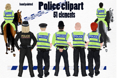 Policeman clipart UK Police on horses Bobby hat Police Png