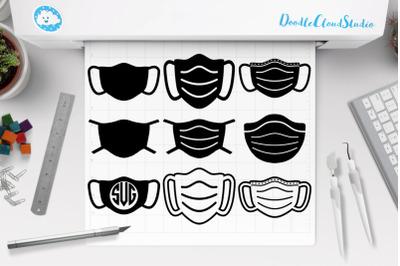 Face Mask Bundle SVG, Medical Mask SVG Cut Files