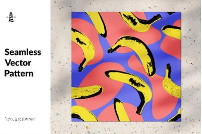Abstract banana seamless background