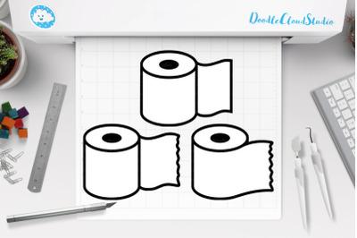 Toilet Paper SVG, Toilet Paper Set, Toilet Paper Rolls Svg.