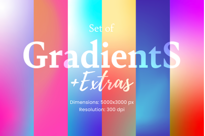 72 Gradients, backgrounds and textures