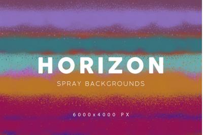 Horizon Spray Backgrounds