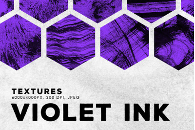 Violet Abstract Ink Textures