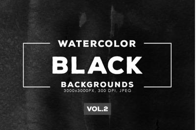 Watercolor Black Backgrounds Vol.2