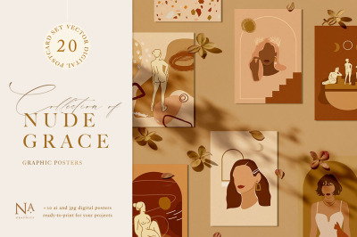 Nude Grace Modern Vector Set