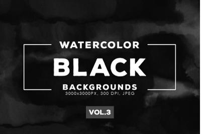 Watercolor Black Backgrounds Vol.3